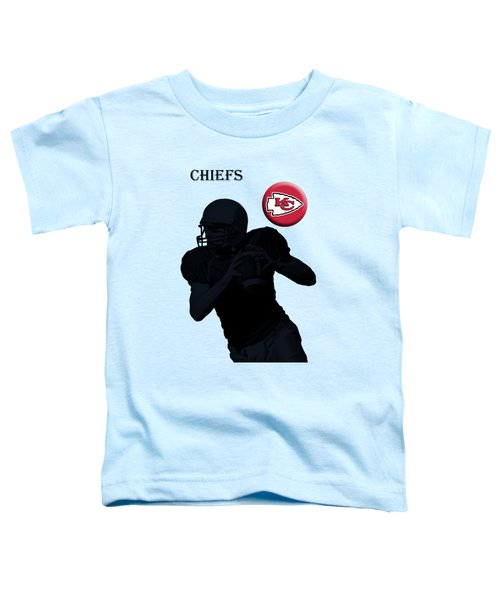 Kansas City Chiefs Football Toddler T-Shirt by David Dehner