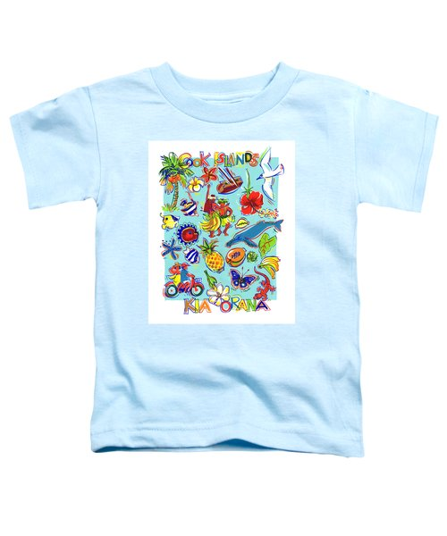 Toddler T-Shirt featuring the painting Kia Orana Cook Islands by Judith Kunzle