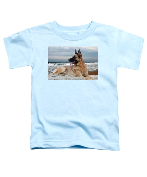 King Of The Beach - German Shepherd Dog Toddler T-Shirt