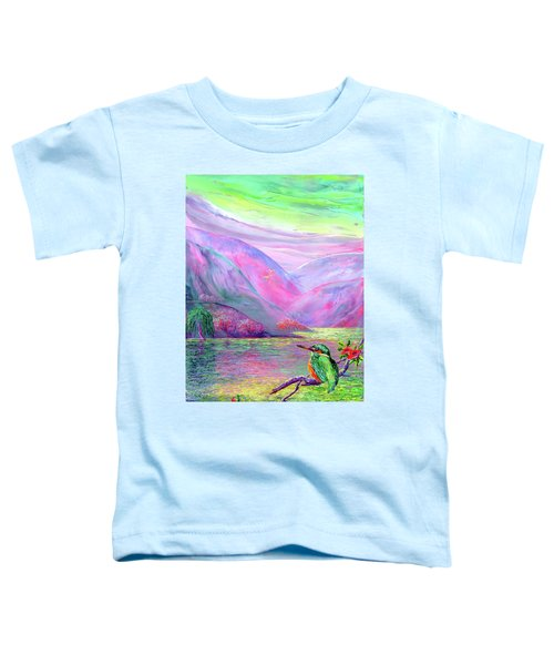 Kingfisher, Shimmering Streams Toddler T-Shirt