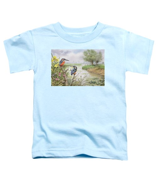 Kingfishers On The Riverbank Toddler T-Shirt