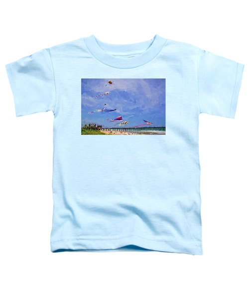 Kites At The Flagler Beach Pier Toddler T-Shirt