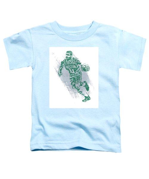 Kyrie Irving Boston Celtics Water Color Art 2 Toddler T-Shirt