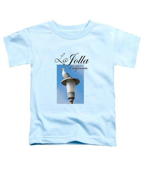 La Jolla Beach Seagull II Toddler T-Shirt by K D Graves