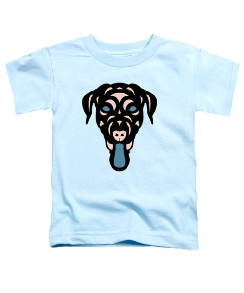 Labrador Dorianna - Dog Design - Island Paradise, Pale Dogwood,  Niagara Blue Toddler T-Shirt