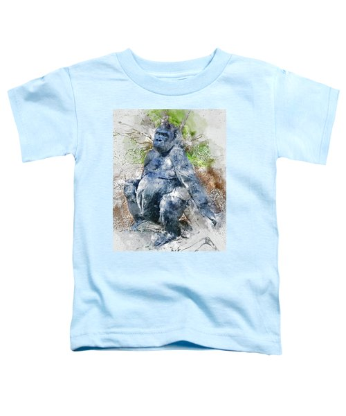 Lady Gorilla Sitting Deep In Thought Toddler T-Shirt