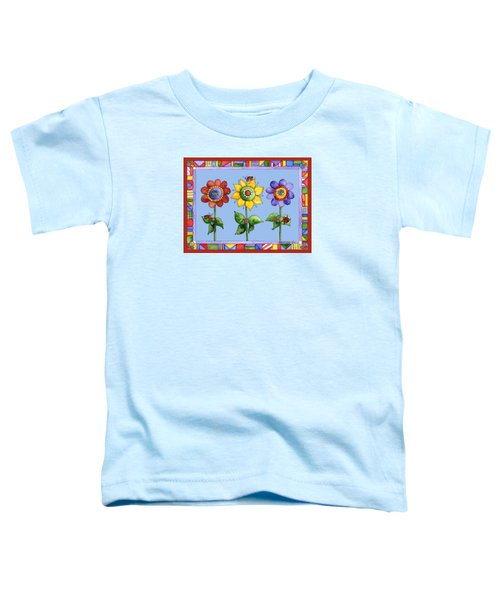 Ladybug Trio Toddler T-Shirt by Shelley Wallace Ylst