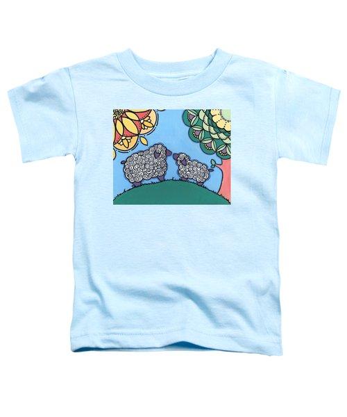 Lamb And Mama Sheep Toddler T-Shirt