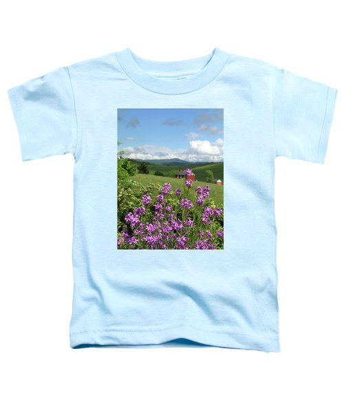 Landscape With Purple Flowers Toddler T-Shirt