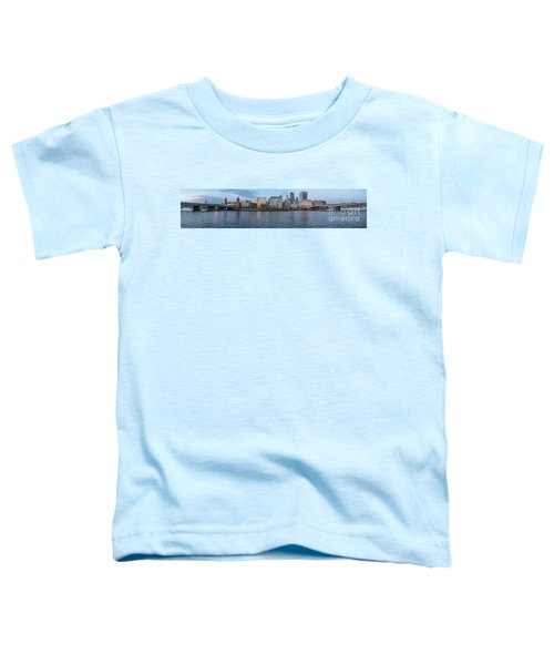 Large Panorama Of Downtown London Betwen The London Bridge And T Toddler T-Shirt
