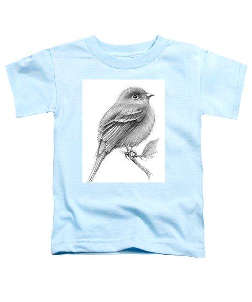 Least Flycatcher Toddler T-Shirt by Greg Joens