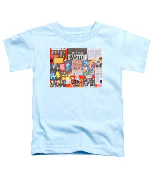 Led Zeppelin Color Collage Toddler T-Shirt