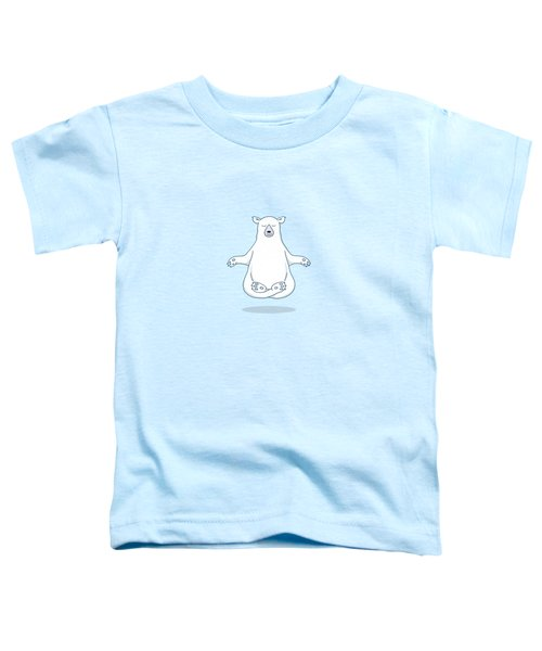 Levitating Meditating Polar Bear Toddler T-Shirt