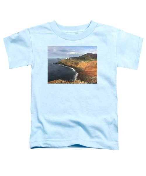 Lighthouse On The Coast Of Terceira Toddler T-Shirt