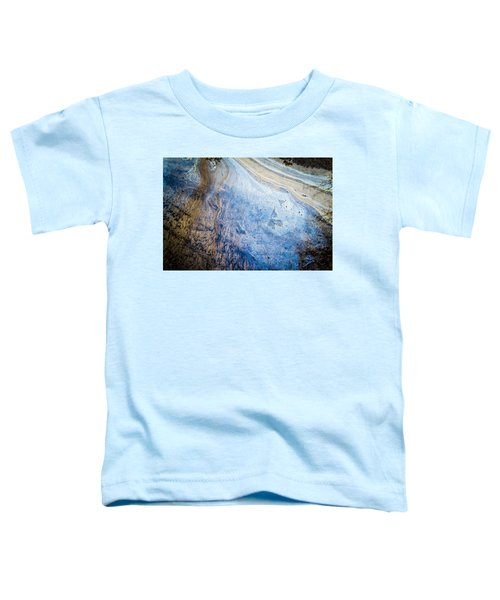 Liquid Oil On Water With Marble Wash Effects Toddler T-Shirt