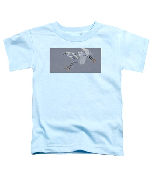 Little Egrets In Flight Toddler T-Shirt