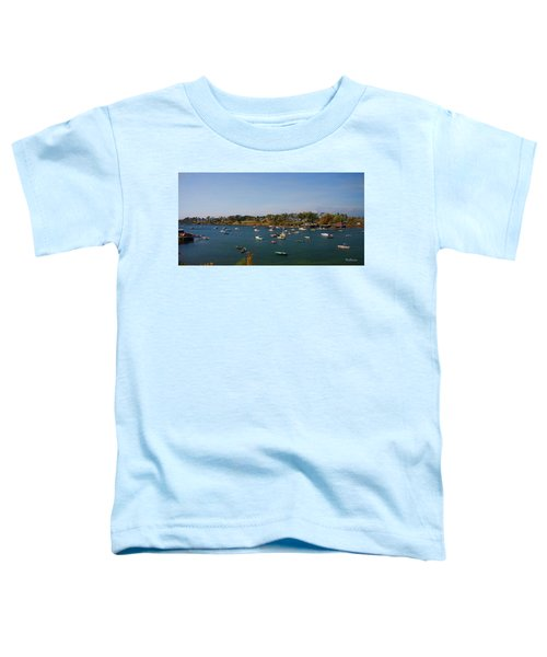 Lobster Boats On The Coast Of Maine Toddler T-Shirt
