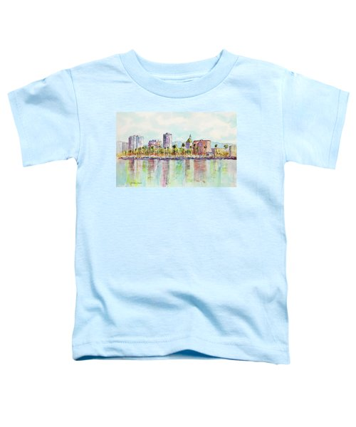 Long Beach Coastline Reflections Toddler T-Shirt