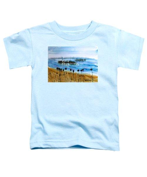 Long Beach Oil Islands Before Sunset Toddler T-Shirt