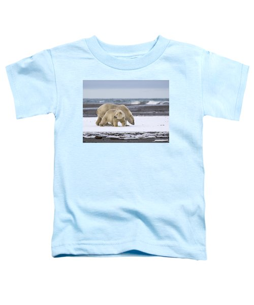 Looking Back In The Arctic Toddler T-Shirt