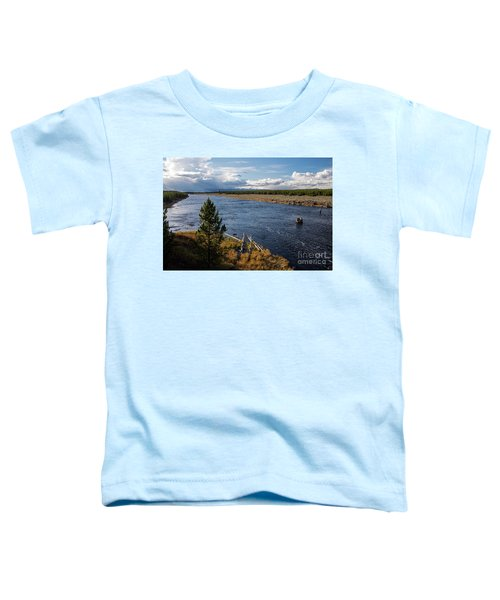 Madison River In Yellowstone National Park Toddler T-Shirt