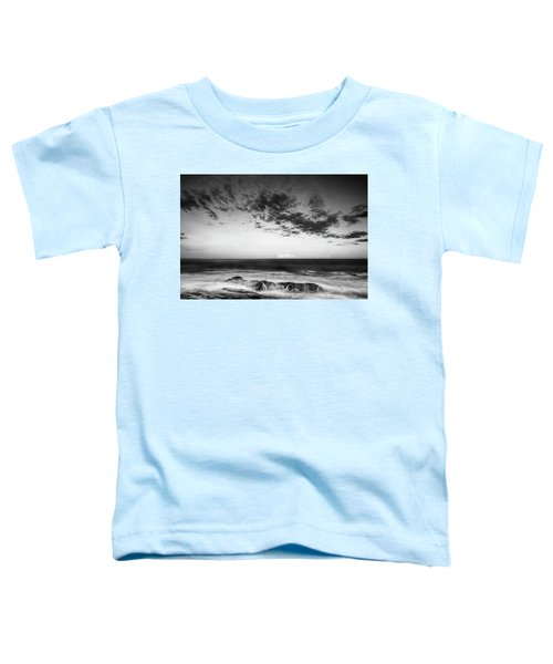 Maine Rocky Coast With Boulders And Clouds At Two Lights Park Toddler T-Shirt