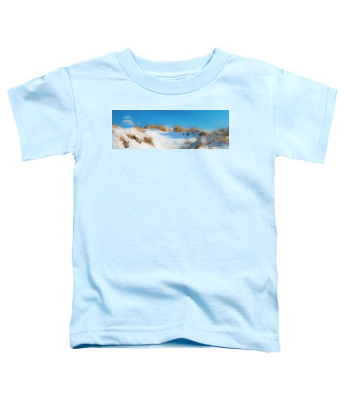 Maine Snow Dunes On Coast In Winter Panorama Toddler T-Shirt