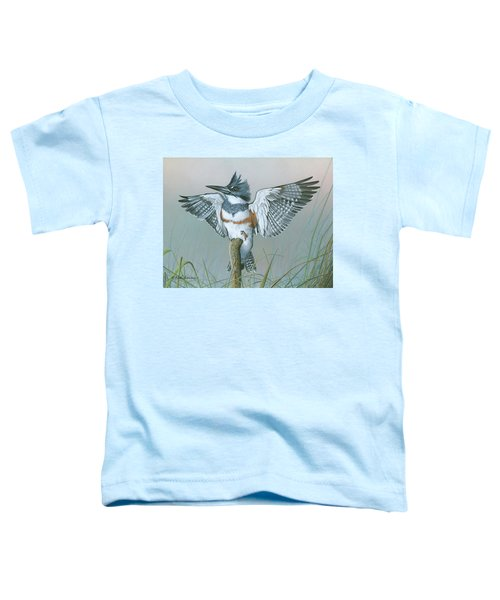 Male Belted Kingfisher Toddler T-Shirt
