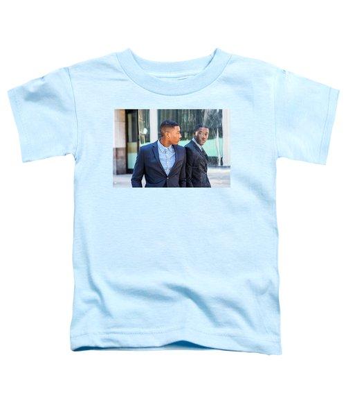 Man Looking At Mirror Toddler T-Shirt