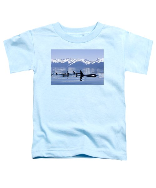 Many Orca Whales Toddler T-Shirt