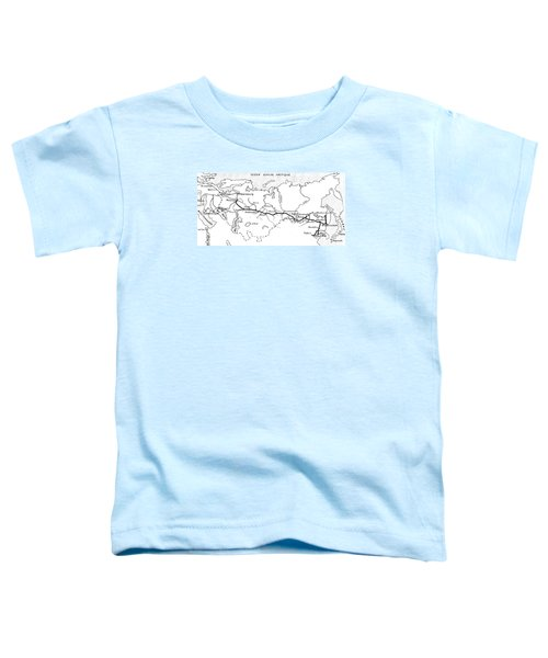Map Of The Route Of The Trans Siberian Railway Toddler T-Shirt
