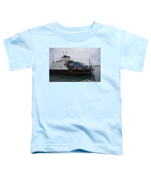 Marine City Mich Car Truck Ferry Toddler T-Shirt