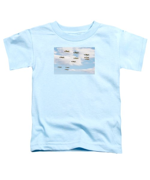 Massed Spitfires Toddler T-Shirt by Gary Eason
