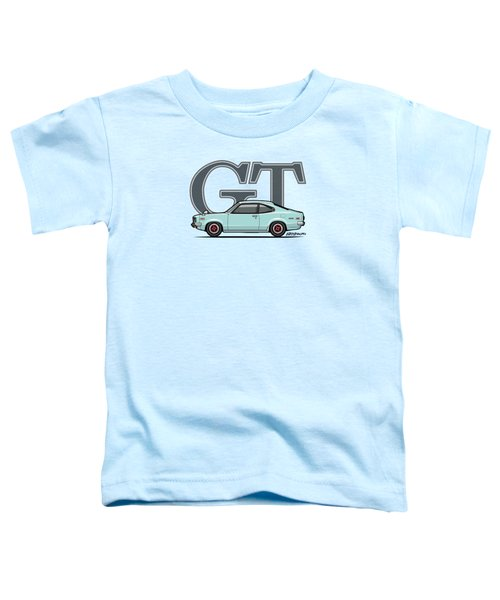 Mazda Savanna Gt Rx-3 Baby Blue Toddler T-Shirt by Monkey Crisis On Mars