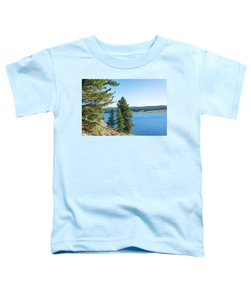 Meadowlark Lake And Trees Toddler T-Shirt by Jess Kraft