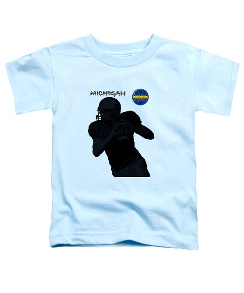 Michigan Football  Toddler T-Shirt by David Dehner