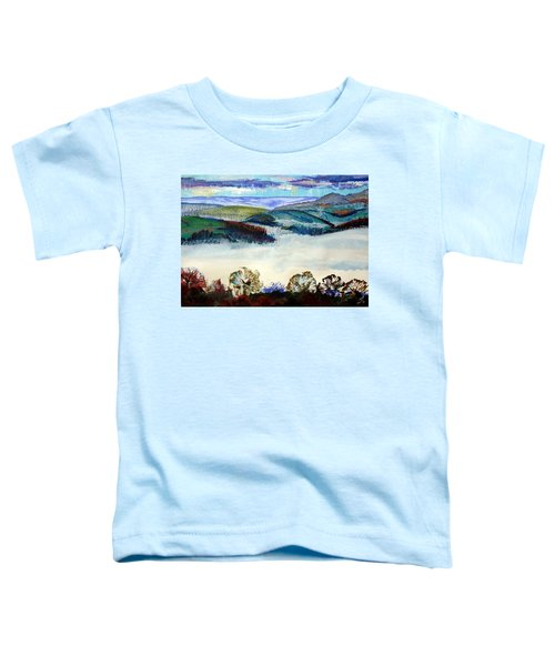 Mist In The Exe Valley In Exeter Devon Toddler T-Shirt