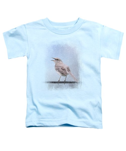 Mockingbird In The Snow Toddler T-Shirt by Jai Johnson
