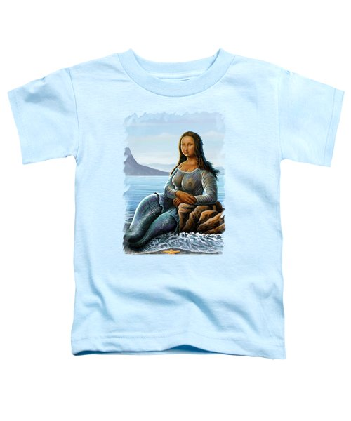 Monalisa Mermaid Toddler T-Shirt by Anthony Mwangi