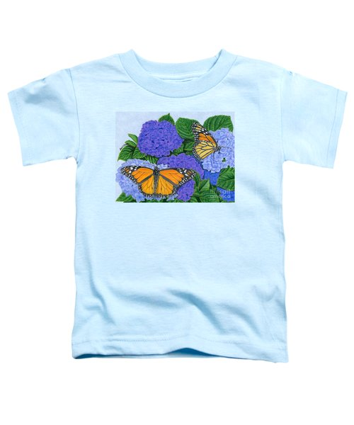 Monarch Butterflies And Hydrangeas Toddler T-Shirt