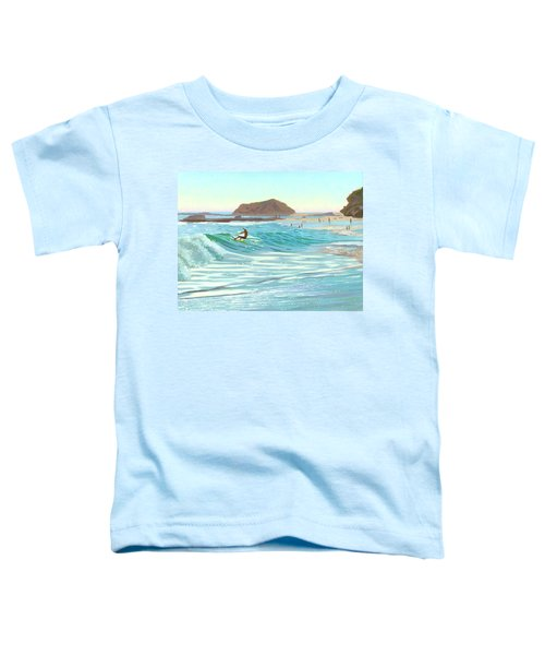 Montage Skimboarder Toddler T-Shirt