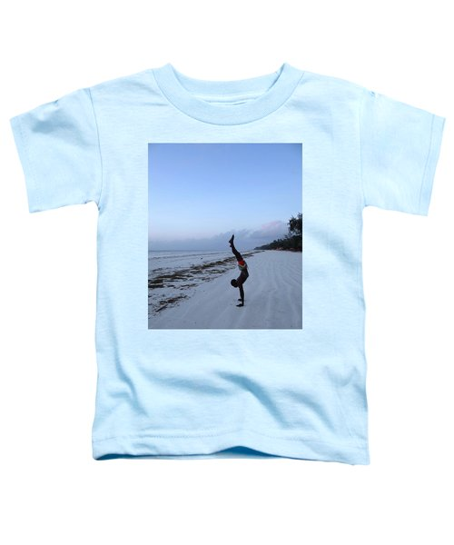 Morning Exercise On The Beach Toddler T-Shirt