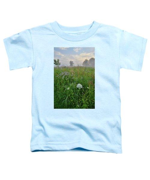 Morning Fog Over Glacial Park Prairie Toddler T-Shirt