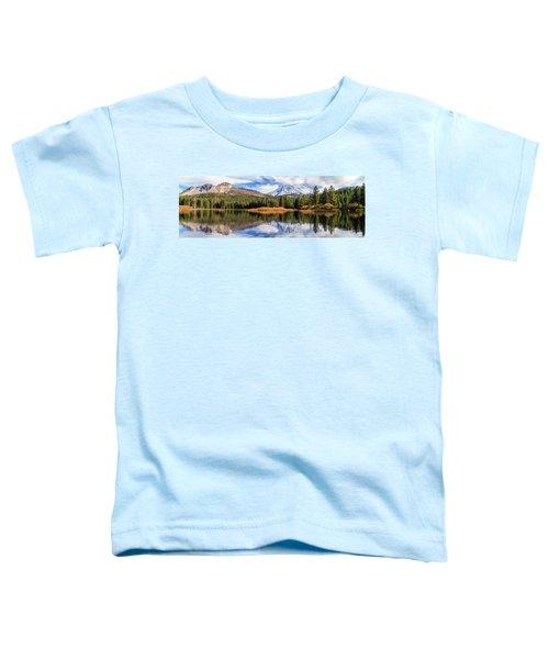 Mount Lassen Reflections Panorama Toddler T-Shirt