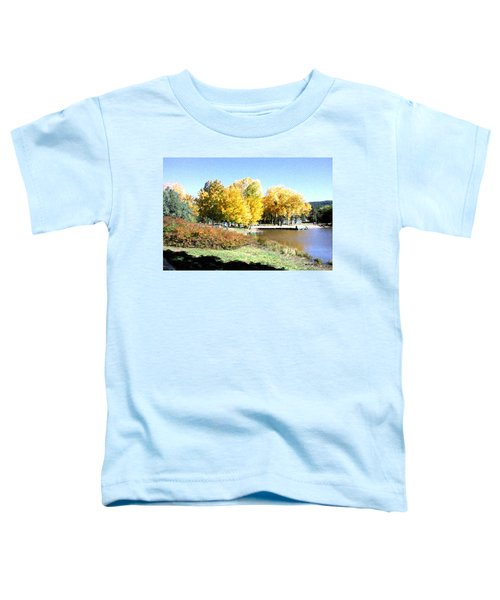 Mountain Lake Autumn Toddler T-Shirt