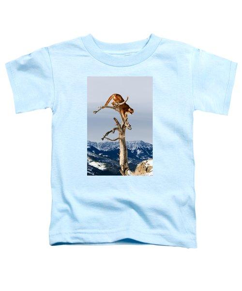 Mountain Lion In Tree Toddler T-Shirt