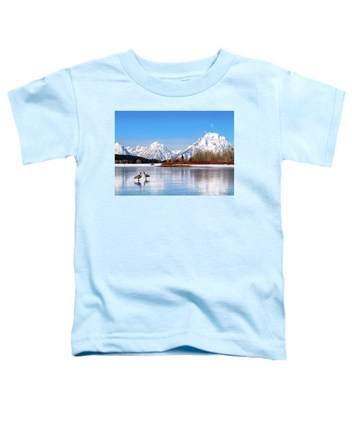 Mt Moran With Geese Toddler T-Shirt