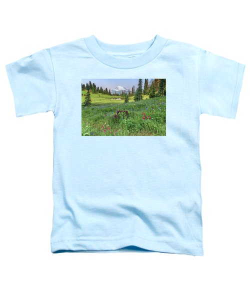 Mt Rainier Meadow Flowers Toddler T-Shirt