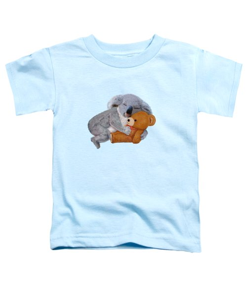 Naptime With Teddy Bear Toddler T-Shirt by Glenn Holbrook