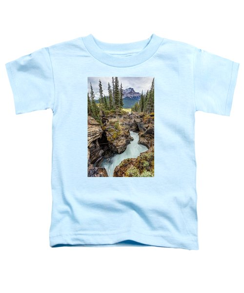 Natural Flow Of Athabasca Falls Toddler T-Shirt